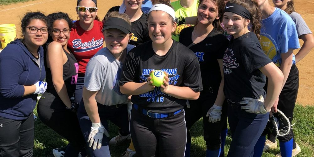 Allie Bridgman of Hightstown gets her JSZ South Jersey Game Ball!