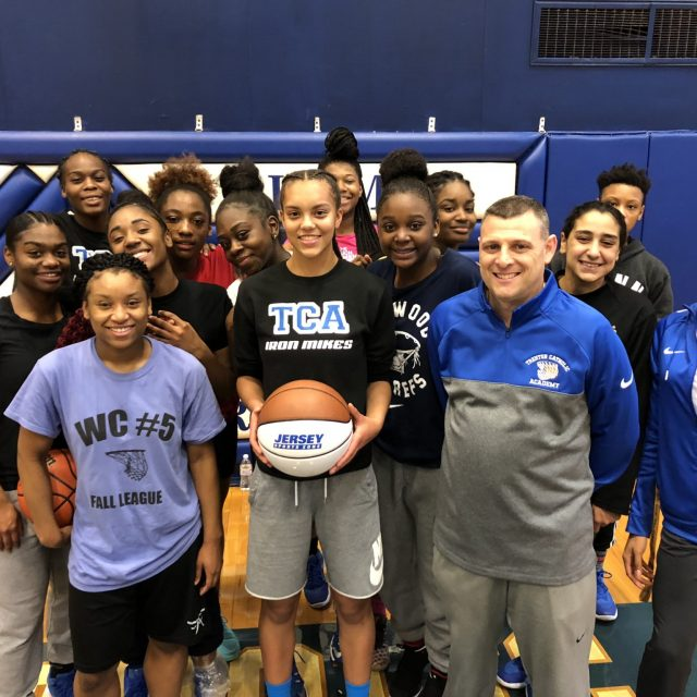 Giana Boulden of Trenton Catholic Academy wins Nery's Game Ball