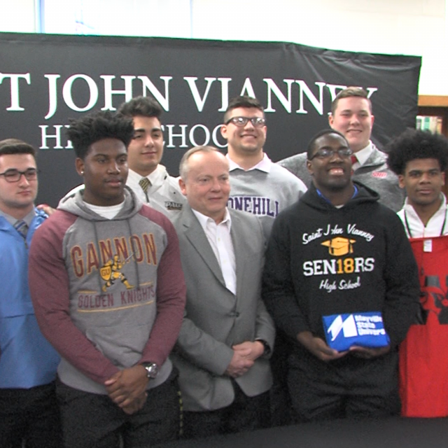 Eight SJV Lancers sign to play college football
