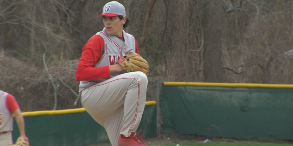 Dombroski throws 1-hitter to give Wall 11th win