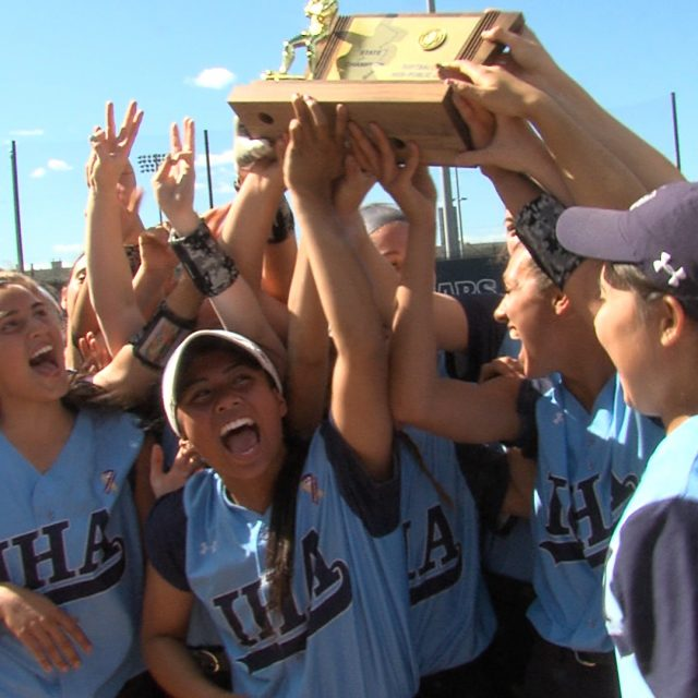 IHA tops Griffins in state finals for second straight year