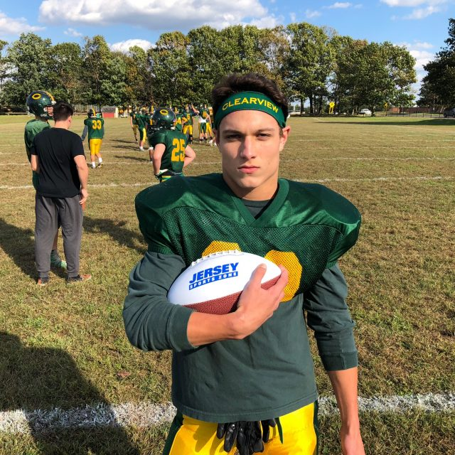 Clearview's Dean Dvorak wins NJM Insurance South Jersey Week Six Game Ball!