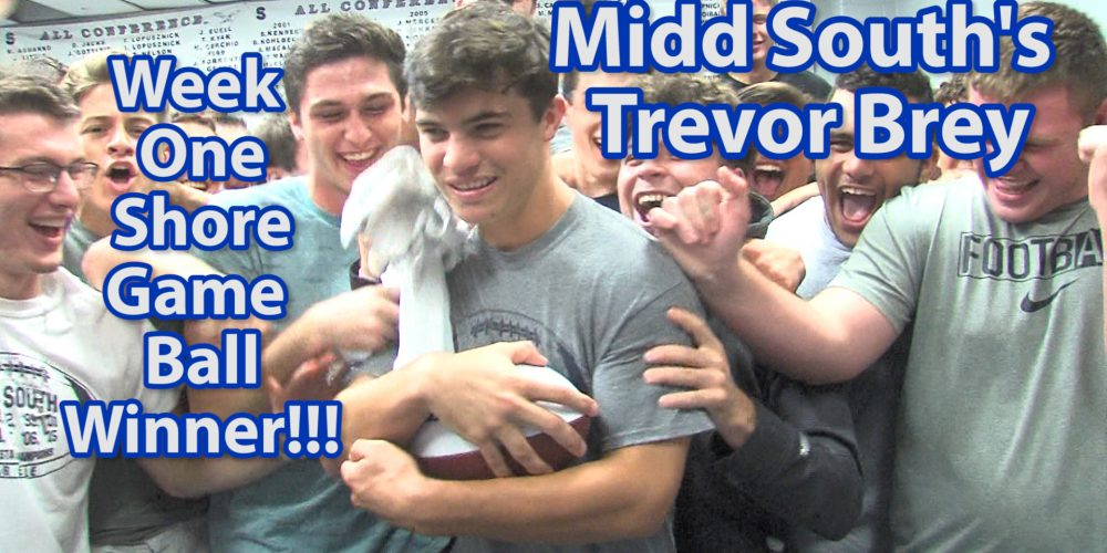 Trevor Brey of Middletown South Wins JSZ's Shore Week One Game Ball