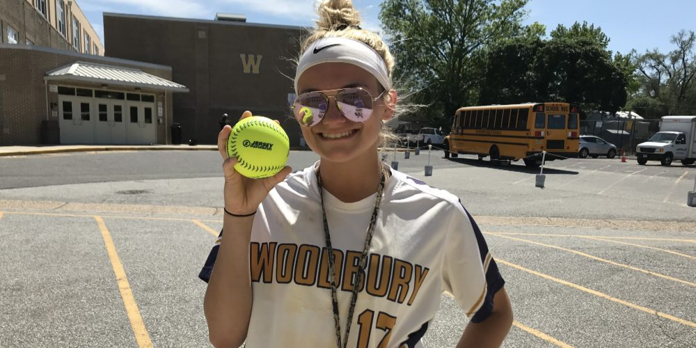 Morgan Tripodi of Woodbury Wins Final NJM Insurance Softball Game Ball