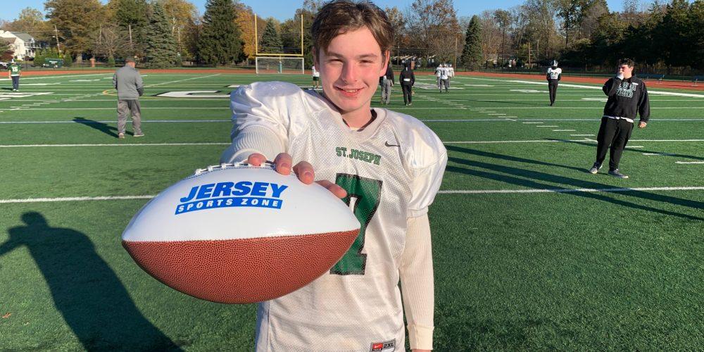 Chris Moyer of St. Joe's Metuchen Wins Final Central Jersey Game Ball
