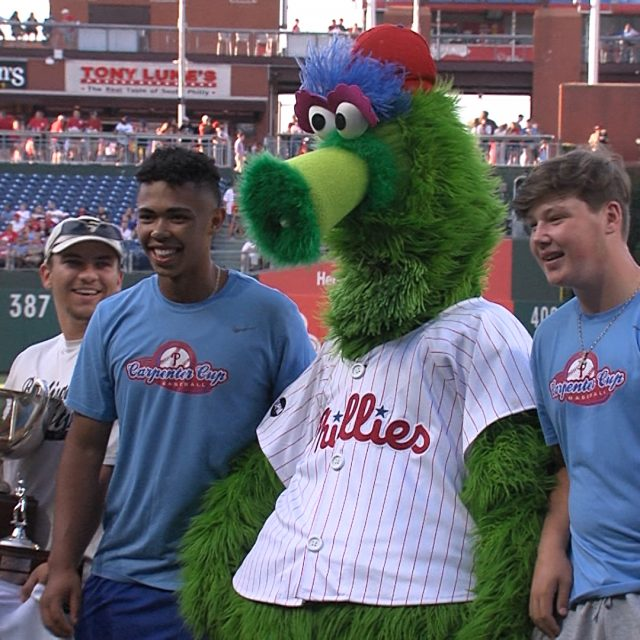 Phillies Recognize BurlCo for Winning Carpenter Cup Title