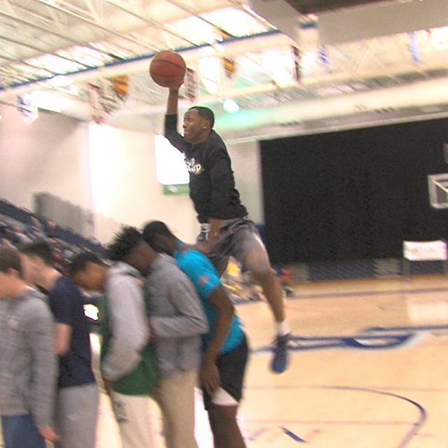 Ranney's Lewis soars to third straight Shore dunk crown