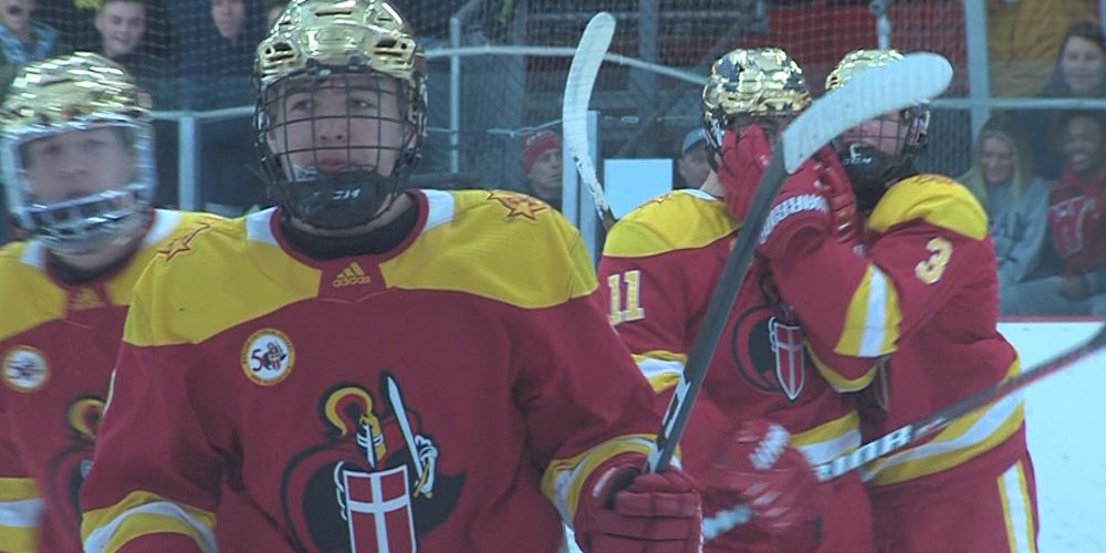 Bergen Catholic holds on for 3-2 win at CBA for 10th straight ice win