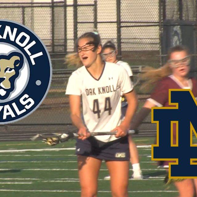 Oak Knoll's Keelin Schlageter – Notre Dame LAX commit