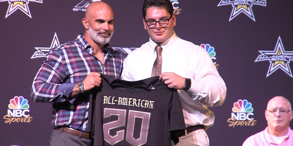 No. 1 Center in USA, Luke Wypler, is a 2020 All-American