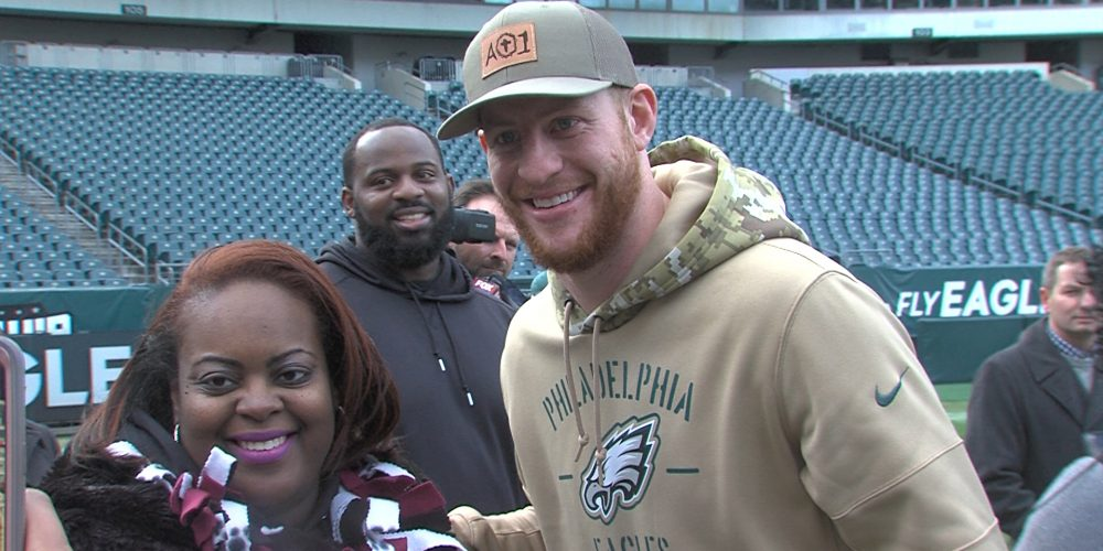 NFL's Eagles Help Heal After Shooting