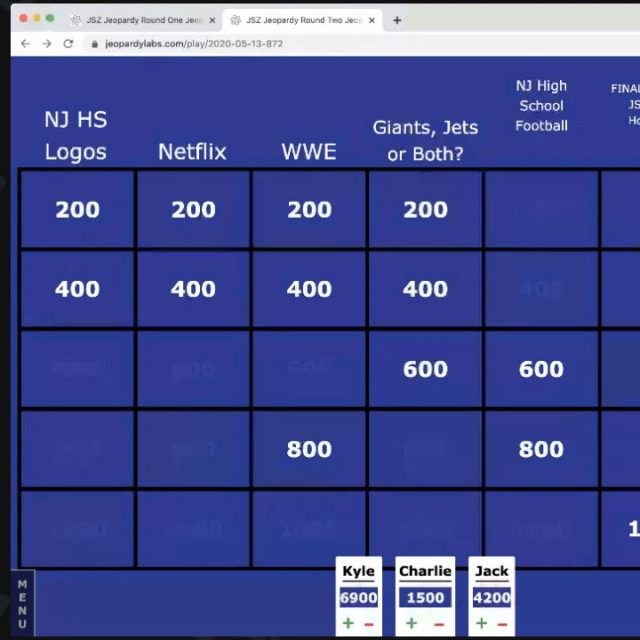 Shore Conference football players play JSZ Jeopardy