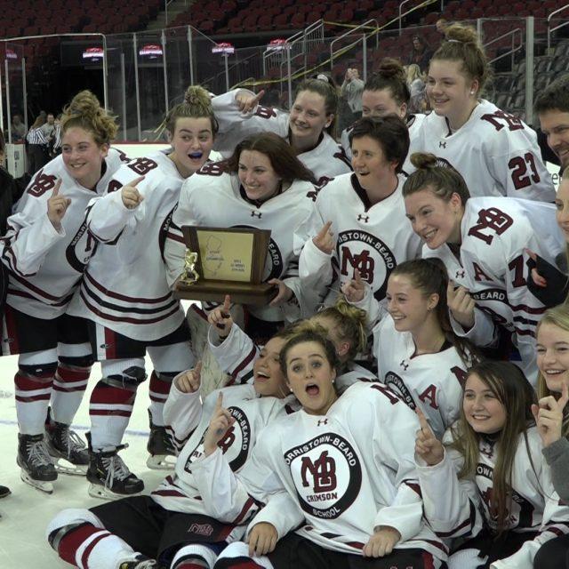 Morristown-Beard Wins Inaugural Girls Ice Hockey State Championship!
