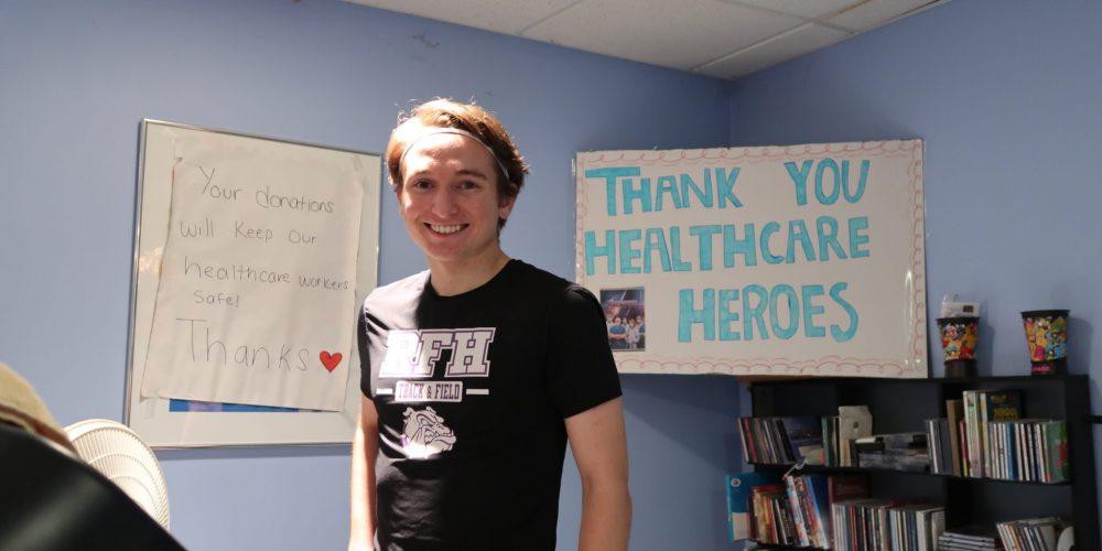 RFH senior runs virtual marathon for NJ health care workers