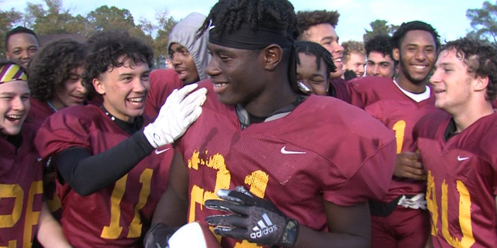 Goffney-Fleming Wins South Jersey Game Ball
