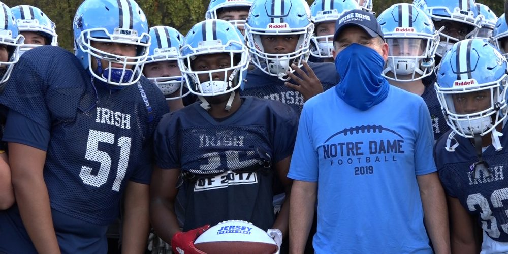 """Rickey """"Pop"""" Spruill of Notre Dame Wins JSZ Central Jersey Week 3 Game Ball"""