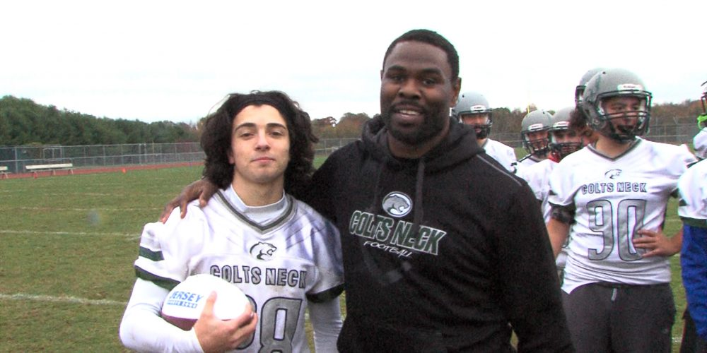 Colts Neck has fun with JSZ Game Ball winner Joey Mauriello