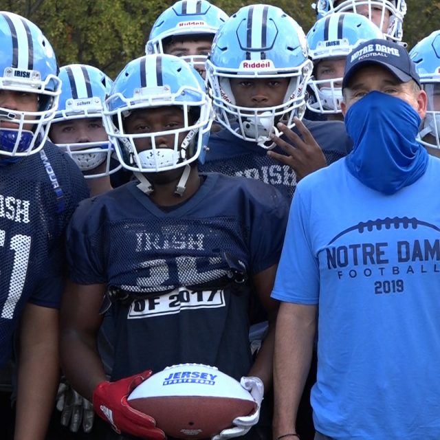 "Rickey ""Pop"" Spruill of Notre Dame Wins JSZ Central Jersey Week 3 Game Ball"