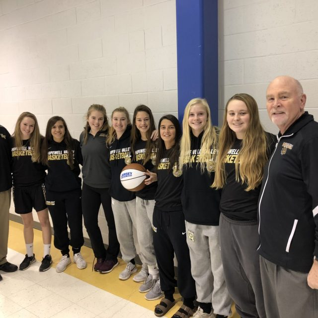 Hopewell Valley's Ally Oldfield takes home the JSZ South Jersey Game Ball