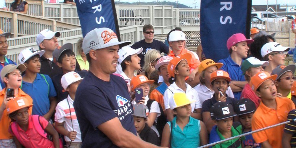PGA's Fowler blasts from the beach in Sea Bright
