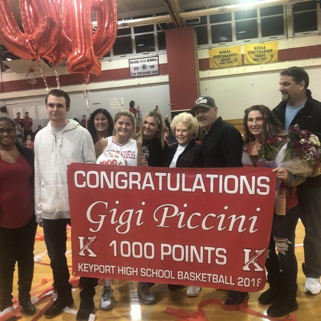 Keyport's Gigi Piccini Scores 1,000th Point vs. Ranney