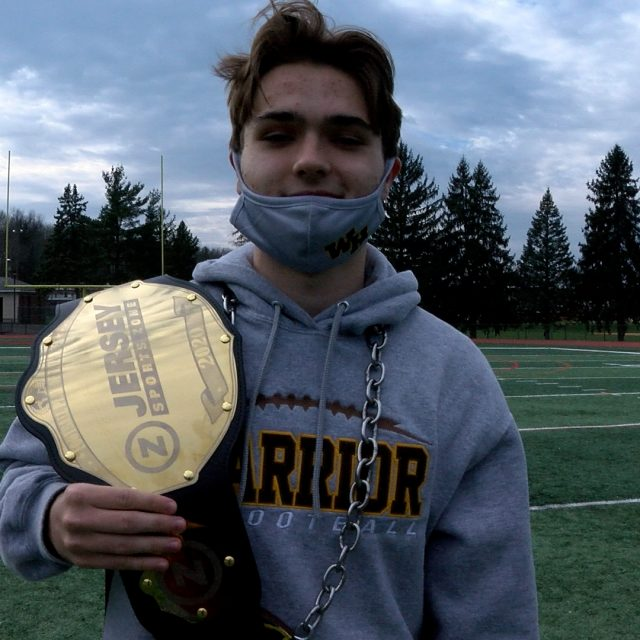 Watchung Hills' Vlasak Takes Home Week 8 Top Play Belt!