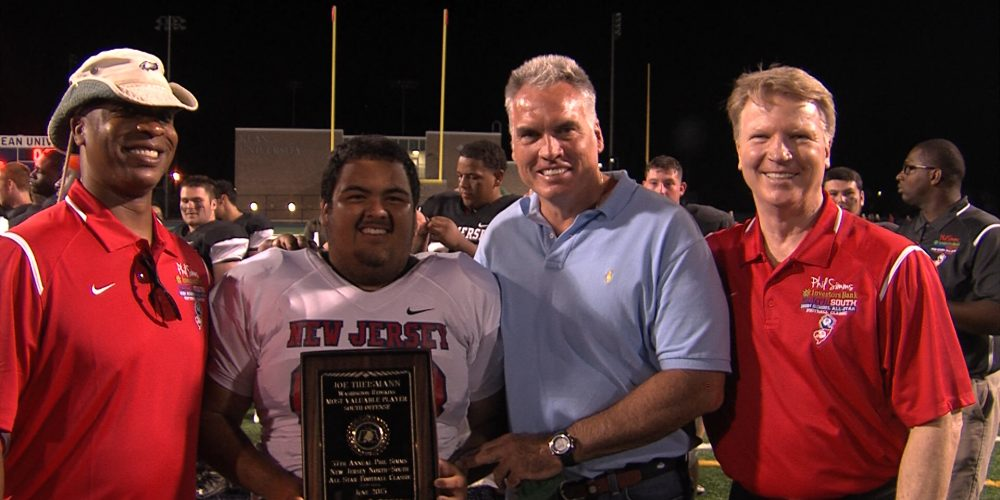 Shore stars shine in Phil Simms All-Star game