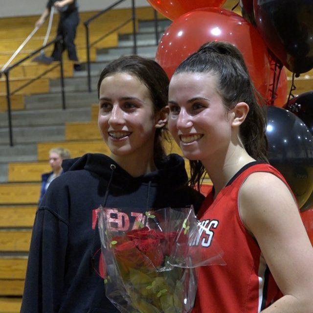Robbinsville's Fiona Aromando scores her 1,000th point!