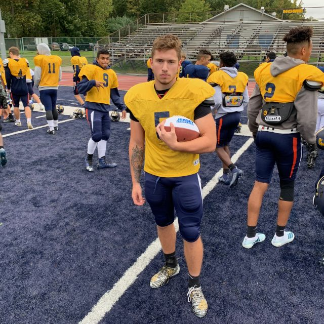 Matt Croteau brings JSZ Central Jersey Week 4 Game Ball to Colonia