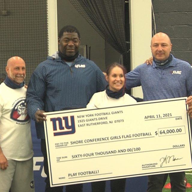 NY Giants Help Bring Girls Football to Shore