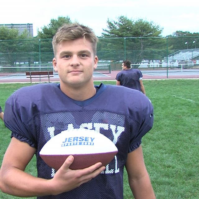 Lacey QB takes home Monmouth Building Center Game Ball