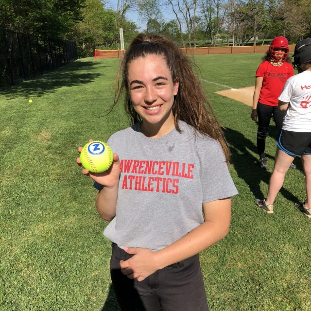 Alyna Balewitz of Lawrenceville wins Nery's South Jersey Game Ball