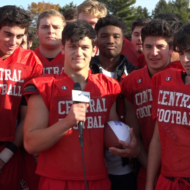 Hunterdon Central's RJ Thornton Wins Courtney's Week 8 Game Ball!