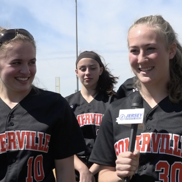 JSZ Awards 2 Somerville Softball Players with Mid-State Game Balls