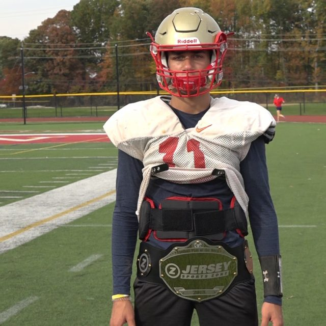 Edison's Lucas Loffredo Won JSZ's Week 8 Top Play Belt!
